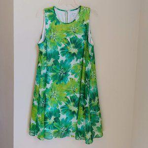 Calvin Klein Botanical Mini Dress Tropical Meadow